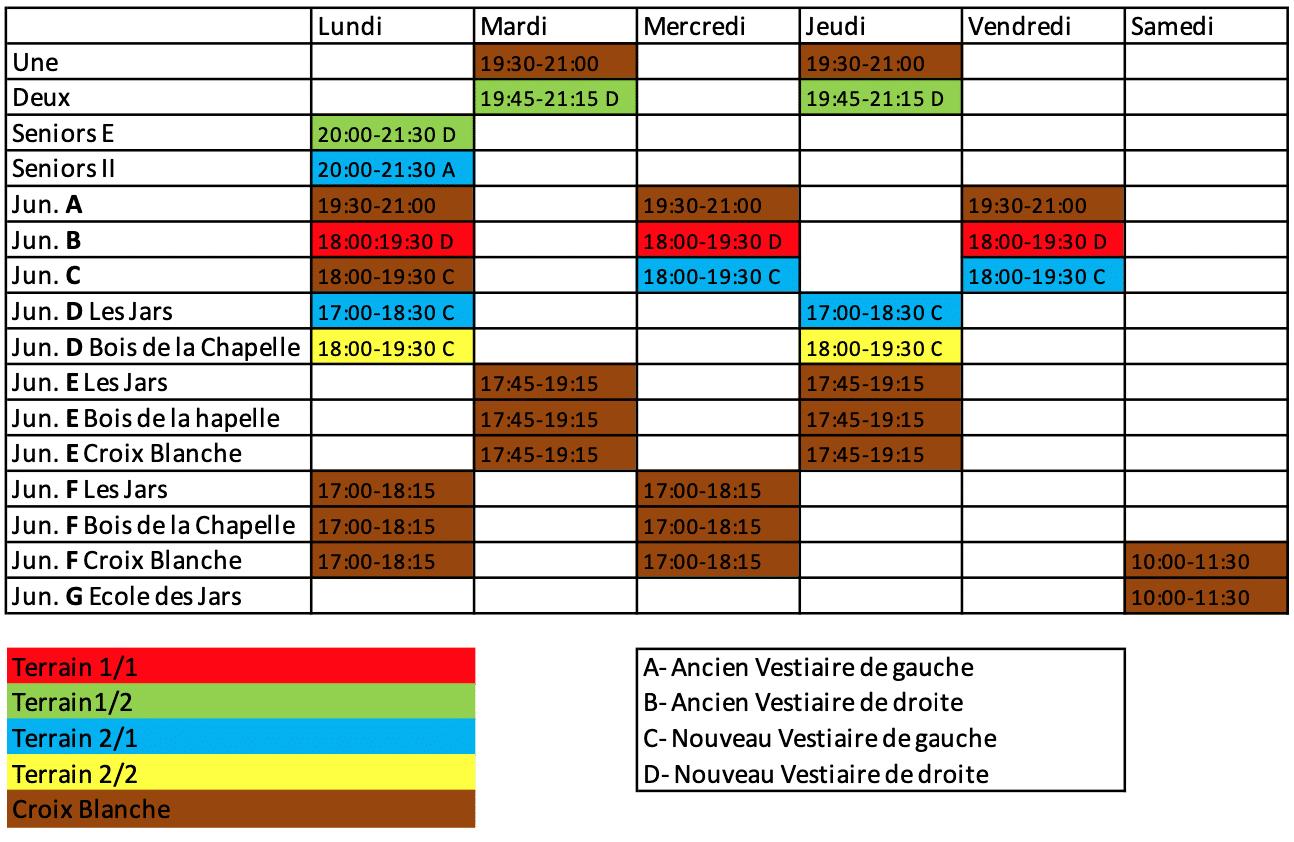 Plan d'entraînement 2020-21