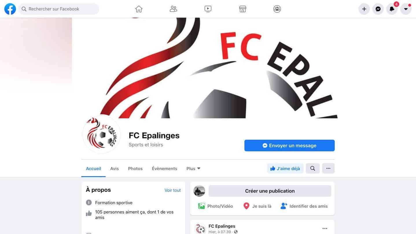 Suivez le FC Epalinges sur les réseaux sociaux !